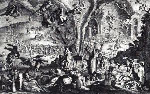 sabbat de sorcière sur le mont de Brocken